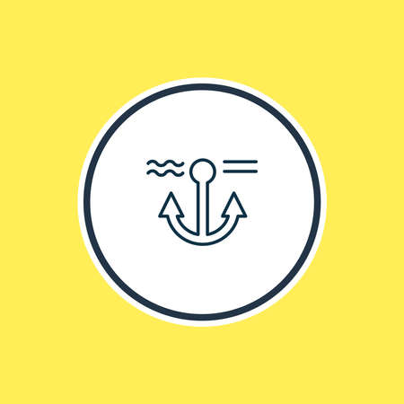 Vector illustration of anchor icon line. Beautiful marine element also can be used as naval icon element. Illustration