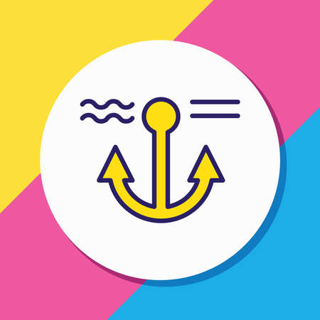 Vector illustration of anchor icon colored line. Beautiful naval element also can be used as naval icon element. Standard-Bild - 134820843