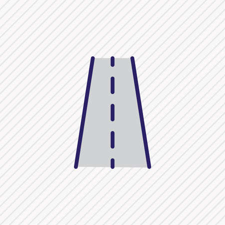 Vector illustration of road icon colored line. Beautiful carrying element also can be used as way icon element.