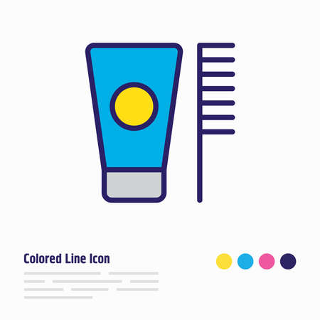 Vector illustration of toothbrush icon colored line. Beautiful vacation element also can be used as toothpaste icon element.