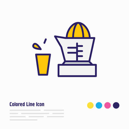 Vector illustration of juicer icon colored line. Beautiful electric utility element also can be used as orange squeezer icon element.