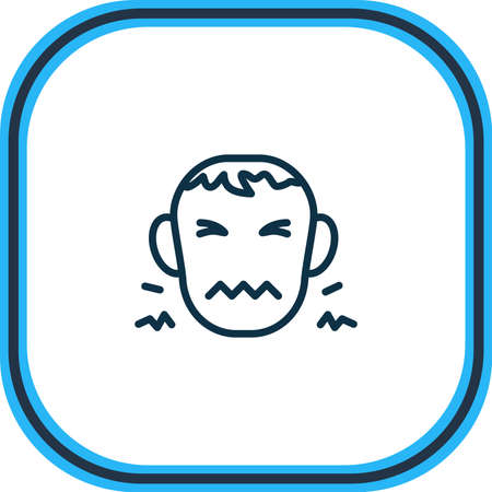 Vector illustration of disgust icon line. Beautiful emoji element also can be used as frustrated icon element.