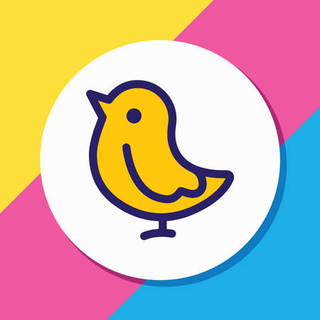 Vector illustration of chicken icon colored line. Beautiful zoo element also can be used as bird icon element.