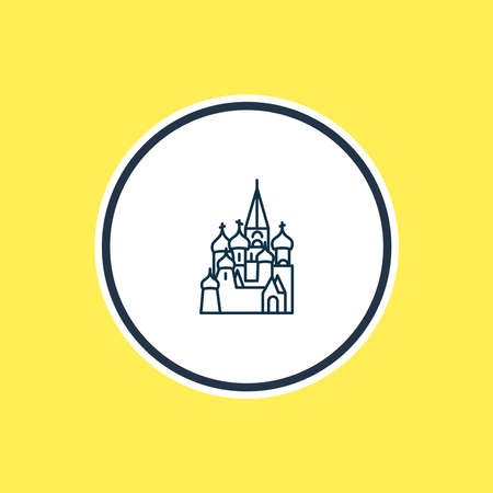 Vector illustration of st basils cathedral icon line. Beautiful culture element also can be used as moscow icon element.