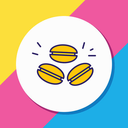 Vector illustration of macaron icon colored line. Beautiful international food element also can be used as french dessert icon element.