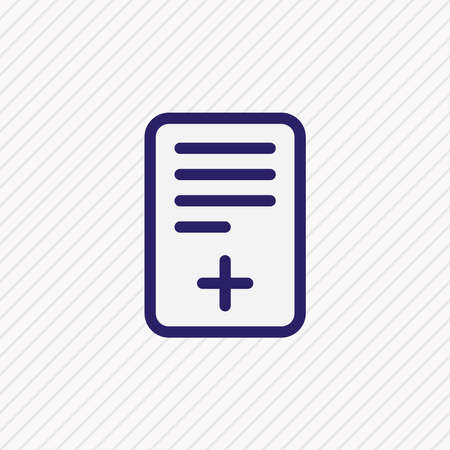 Vector illustration of add file icon colored line. Beautiful workplace element also can be used as plus document icon element.