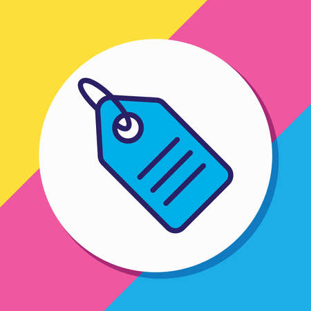 Vector illustration of price tag icon colored line. Beautiful marketing element also can be used as discount label icon element.