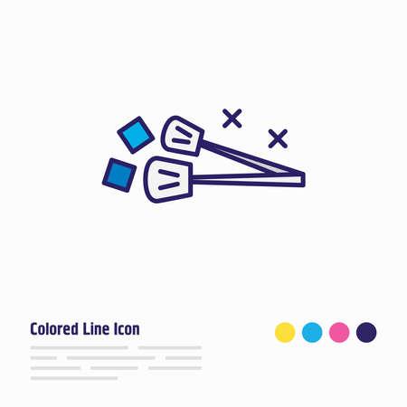 Vektor-Illustration der Eiszange Symbol farbige Linie. Schönes Utensilienelement kann auch als Utensiliensymbolelement verwendet werden.