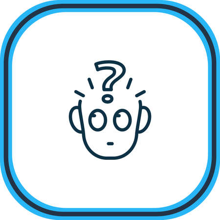 Vector illustration of problem icon line. Beautiful emoticon element also can be used as confusion icon element.  イラスト・ベクター素材