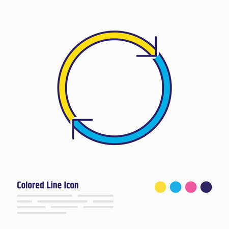 Vector illustration of reload icon colored line. Beautiful network element also can be used as refresh icon element. Çizim