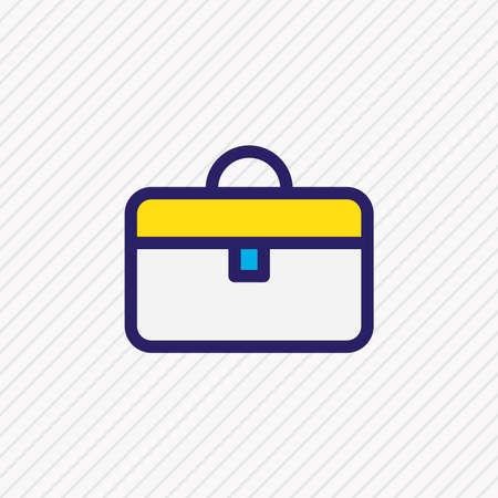 Vector illustration of suitcase icon colored line. Beautiful bureau element also can be used as briefcase icon element. Vectores