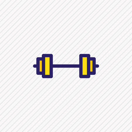 Vector illustration of barbell icon colored line. Beautiful joy element also can be used as dumbbell icon element.