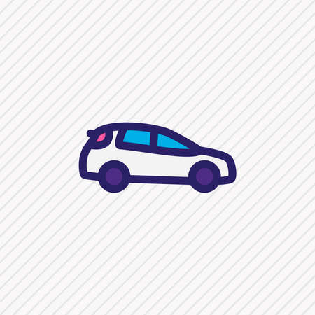 Vector illustration of medium suv icon colored line. Beautiful transit element also can be used as auto icon element. Ilustrace