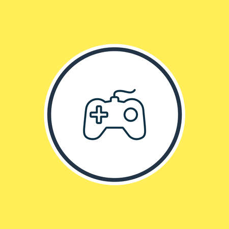illustration of game console icon line. Beautiful hobby element also can be used as joystick icon element. Reklamní fotografie
