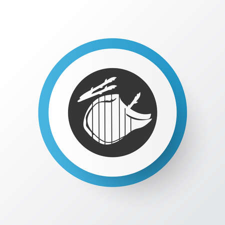 Steak icon symbol. Premium quality isolated meat element in trendy style.