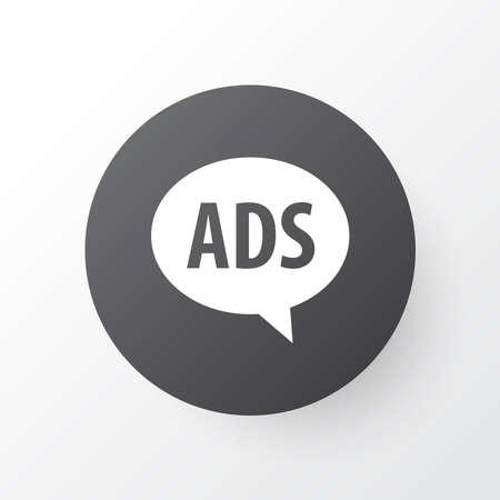 Advert icon symbol. Premium quality isolated advertising element in trendy style.