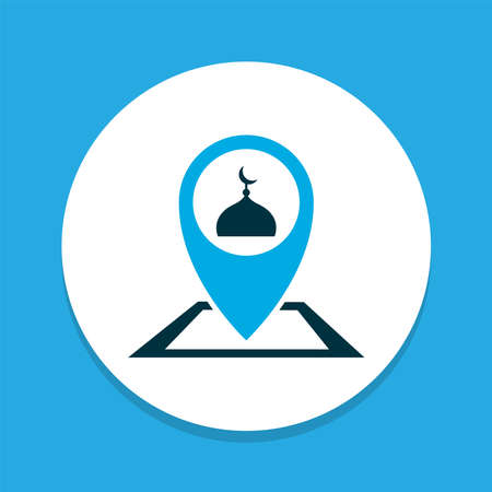 Place icon colored symbol. Premium quality isolated pinpoint element in trendy style.