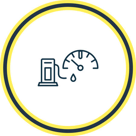 Vector illustration of petrol icon line. Beautiful auto parts element also can be used as fuel gauge icon element.