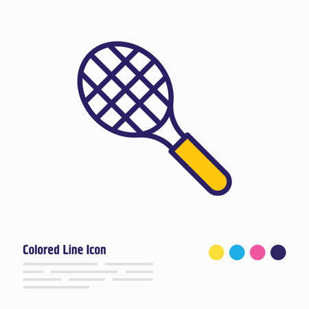 Vector illustration of sport icon colored line. Beautiful sport element also can be used as tennis rocket icon element.