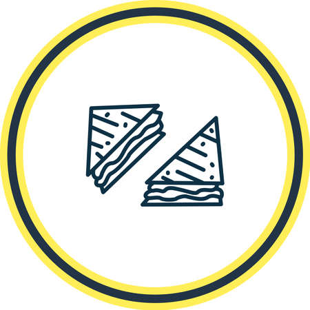Vector illustration of american sandwiches icon line. Beautiful culinary element also can be used as cheeseburger icon element. 일러스트