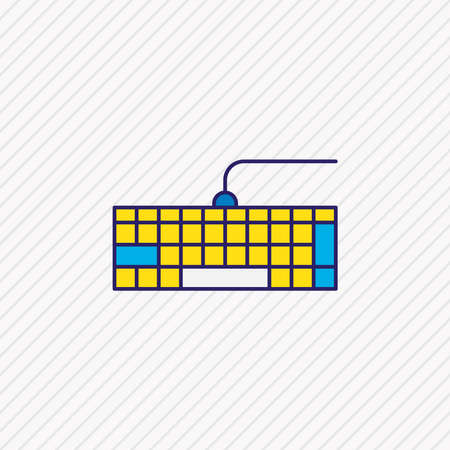 Vector illustration of keypad icon colored line. Beautiful notebook element also can be used as qwerty icon element. 版權商用圖片 - 138799130
