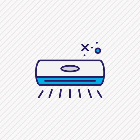 Vector illustration of air conditioner icon colored line. Beautiful appliance element also can be used as cooler icon element.