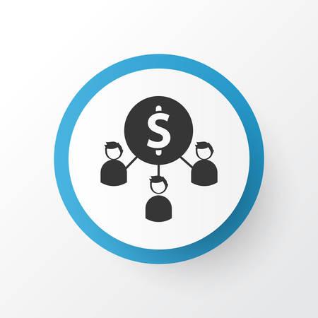 Affiliate marketing icon symbol. Premium quality isolated partnership element in trendy style. Иллюстрация