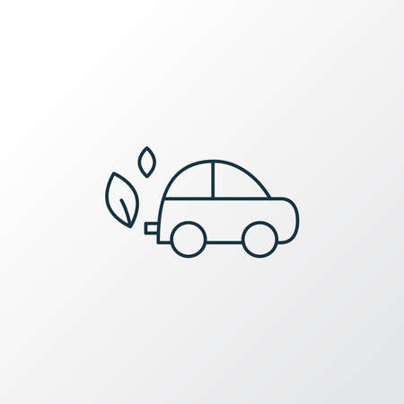 Eco car icon line symbol. Premium quality isolated automobile element in trendy style.