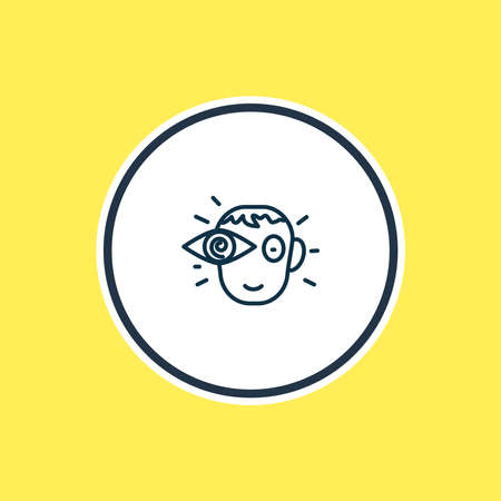 Vector illustration of vision icon line. Beautiful emoticon element also can be used as view icon element.
