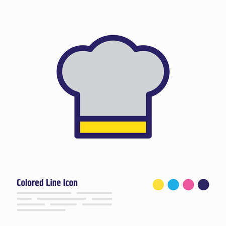 Vector illustration of cook hat icon colored line. Beautiful joy element also can be used as chef icon element. Foto de archivo - 140024235