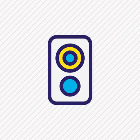 Vector illustration of loudspeaker icon colored line. Beautiful music element also can be used as amplifier icon element. Ilustração