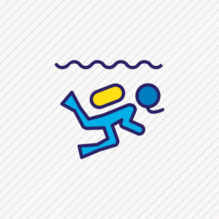 Vector illustration of diving icon colored line. Beautiful activities element also can be used as scuba icon element. Ilustração