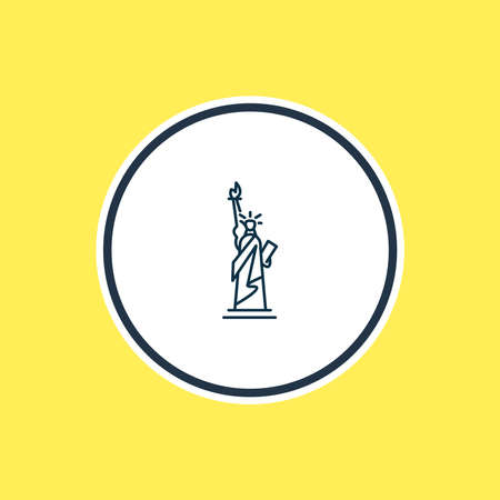 Vector illustration of statue of liberty icon line. Beautiful tourism element also can be used as freedom monument icon element.