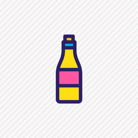Vector illustration of alcohol icon colored line. Beautiful leisure element also can be used as bottle icon element. Banco de Imagens - 140024286