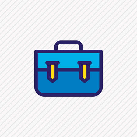 Vector illustration of portfolio icon colored line. Beautiful marketing element also can be used as briefcase icon element.