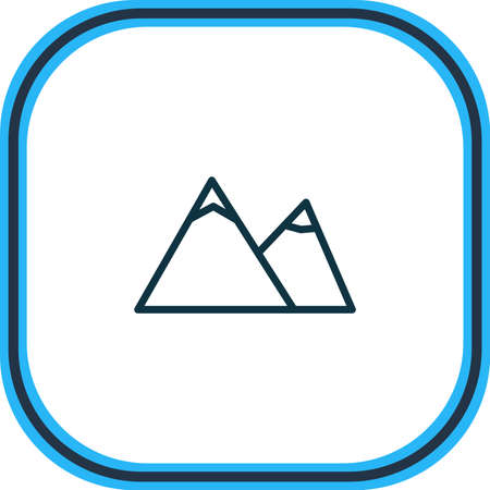 Vector illustration of mountain icon line. Beautiful season element also can be used as hill icon element.