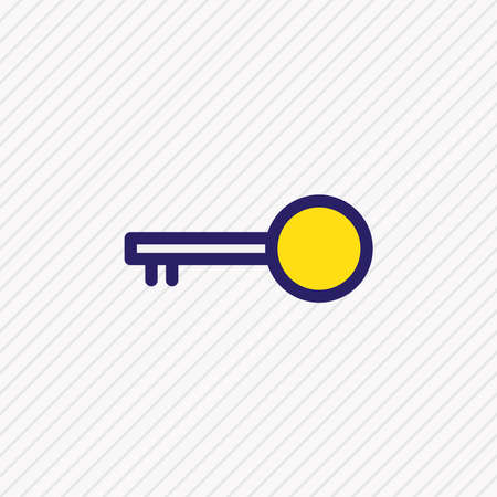 Vector illustration of key icon colored line. Beautiful office element also can be used as opener icon element. Ilustrace