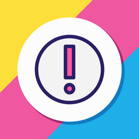 Vector illustration of error icon colored line. Beautiful internet element also can be used as risk icon element. Vettoriali