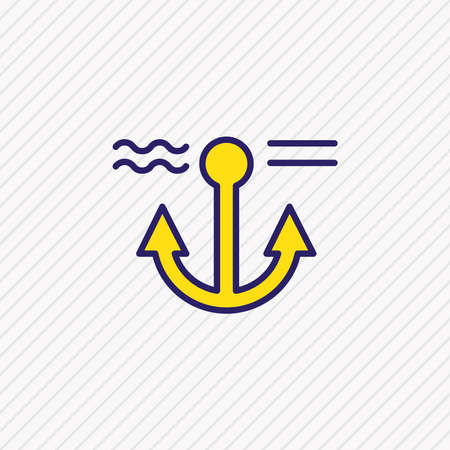 Vector illustration of anchor icon colored line. Beautiful nautical element also can be used as naval icon element.