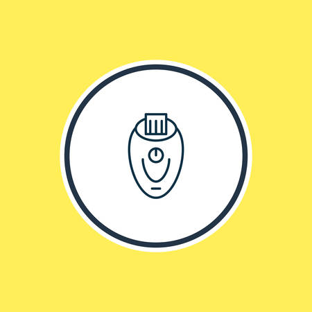 Vector illustration of epilator icon line. Beautiful kitchenware element also can be used as depilatory icon element. Ilustração
