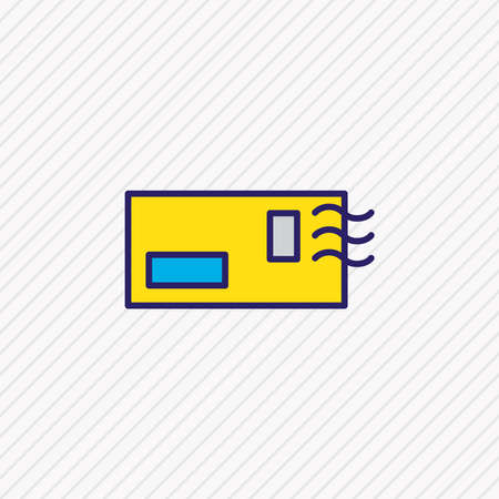 Vector illustration of postcrossing icon colored line. Beautiful lifestyle element also can be used as envelope icon element.