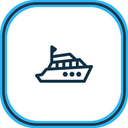 Vector illustration of yacht icon line. Beautiful vehicle element also can be used as boat icon element.