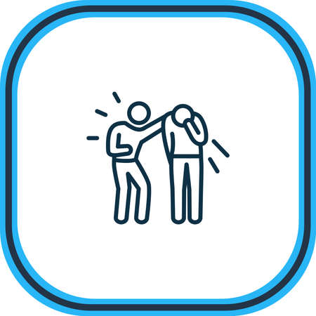 Vector illustration of empathy icon line. Beautiful emoticon element also can be used as friendship icon element. Ilustración de vector