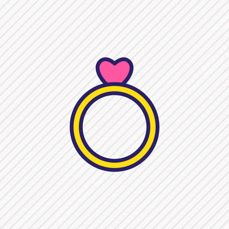 Vector illustration of ring icon colored line. Beautiful passion element also can be used as engagement icon element.