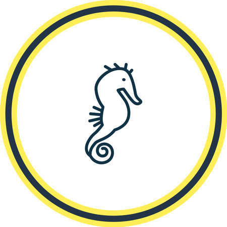 illustration of seahorse icon line. Beautiful zoology element also can be used as hippocampus icon element.