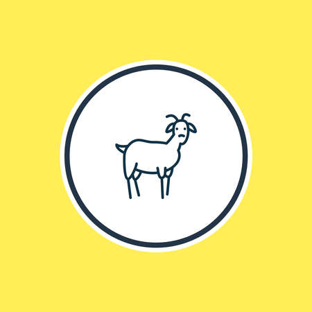 Vector illustration of goat icon line. Beautiful zoology element also can be used as ungulate icon element. 向量圖像