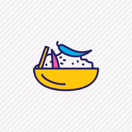 Vector illustration of moroccan couscous icon colored line. Beautiful international food element also can be used as appetizing icon element.