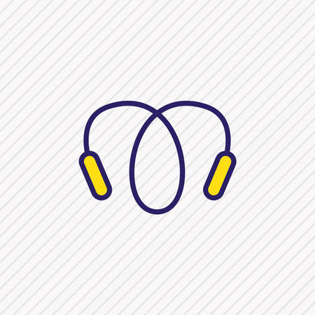 Vector illustration of jumping rope icon colored line. Beautiful hobby element also can be used as skipping rope icon element.