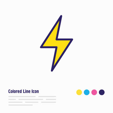 Vector illustration of storm icon colored line. Beautiful weather element also can be used as lightning icon element.