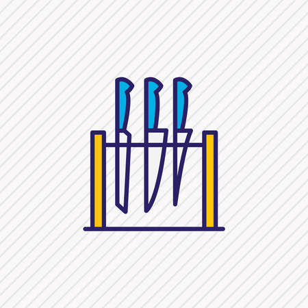 Vector illustration of knife set icon colored line. Beautiful kitchenware element also can be used as flatware icon element.